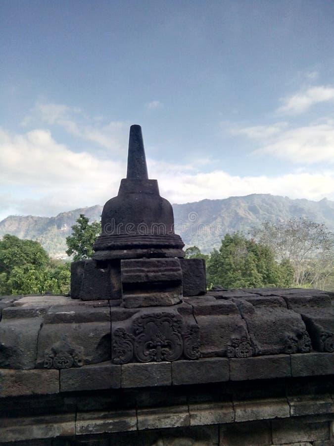 Templo de Borobudur em Magelang, Java Central, Indonésia imagens de stock royalty free