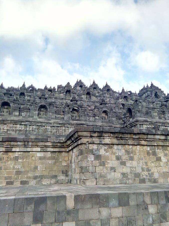 Templo de Borobudur em Magelang, Java Central, Indonésia fotos de stock royalty free