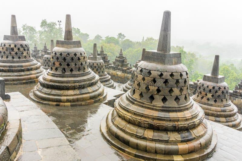 Templo de Borobudur em Yogyakarta, Indonésia fotografia de stock