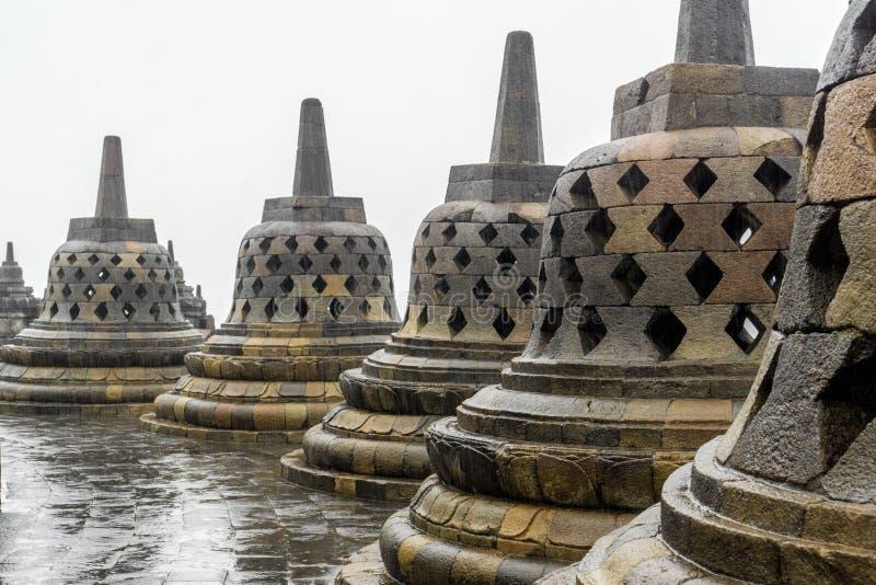 Templo de Borobudur em Yogyakarta, Indonésia fotografia de stock royalty free