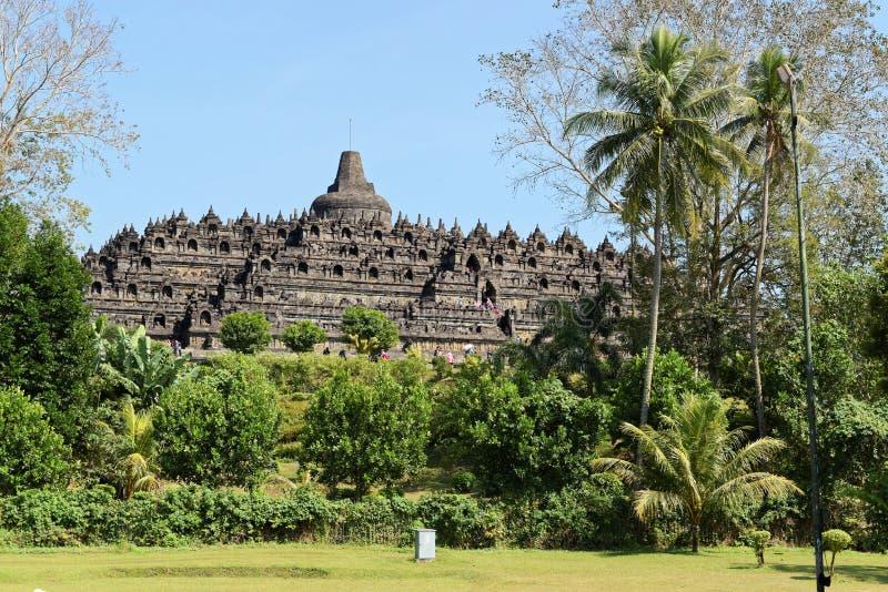 Templo de Borobudur em Yogyakarta, Java, Indonésia fotografia de stock royalty free