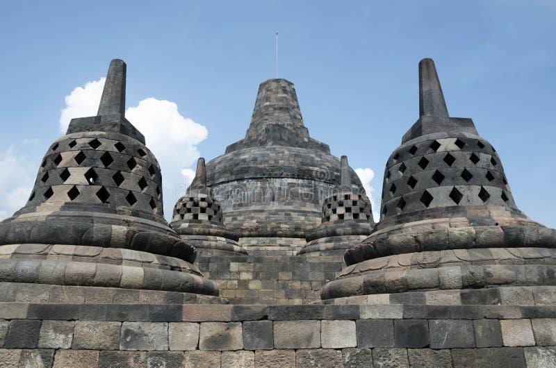 Templo de Borobudur, Java central, Yogyakarta, Indonésia imagens de stock
