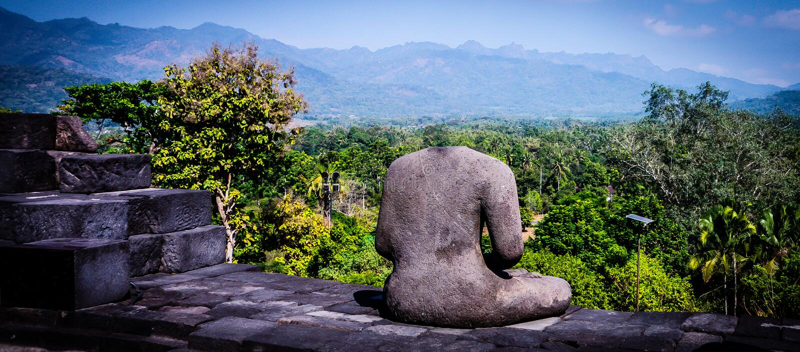 Templo de Borobudur, Java, Indonesia imágenes de archivo libres de regalías