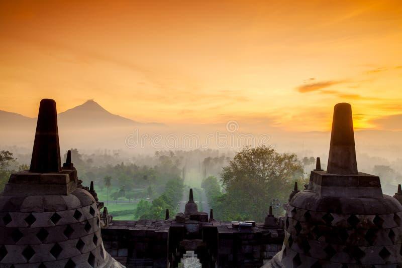 Templo de Borobudur, Yogyakarta, Java fotografia de stock