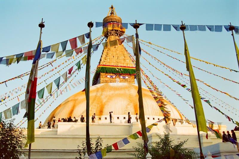 Templo de Boudhanath, Katmandu Nepal imagenes de archivo