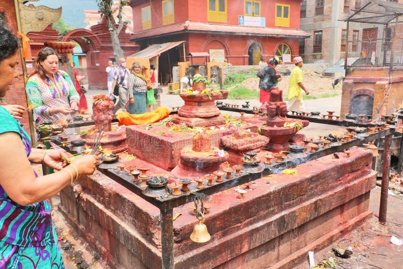 Templo de Budhanilkantha, Katmandu, Nepal foto de archivo libre de regalías