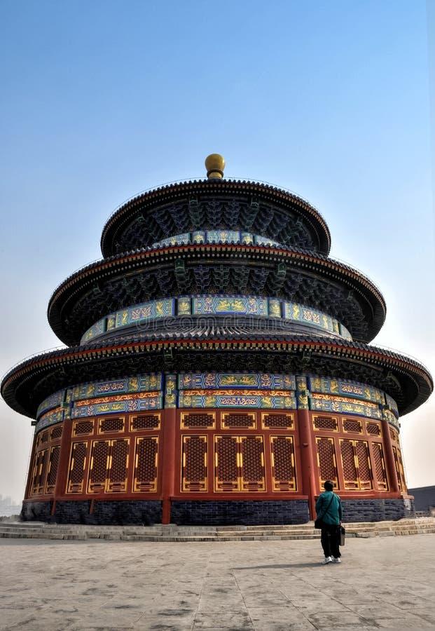 Templo de céu foto de stock