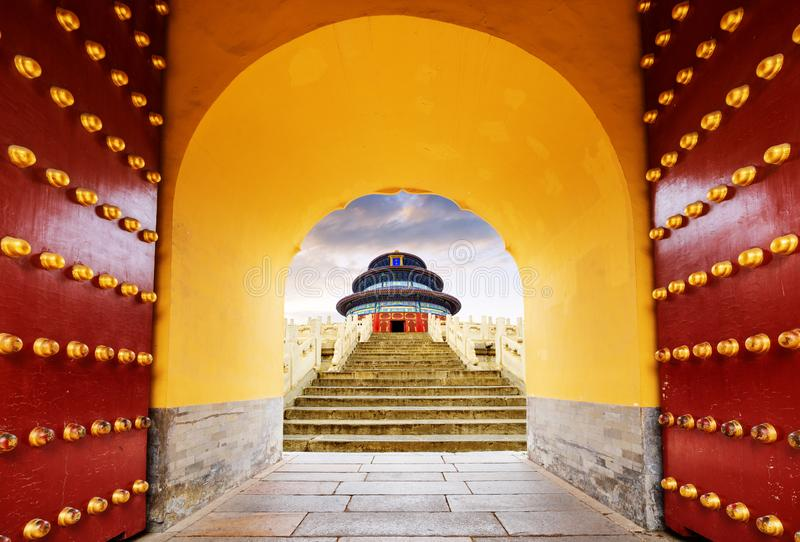 Templo de c?u em Beijing, China fotos de stock
