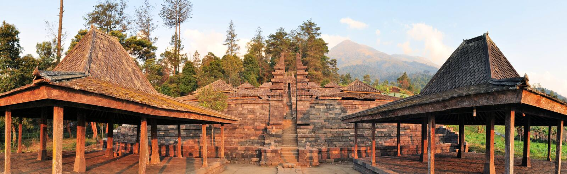 Templo de Candi Cetho Hindu, Java, Indonesia imagen de archivo