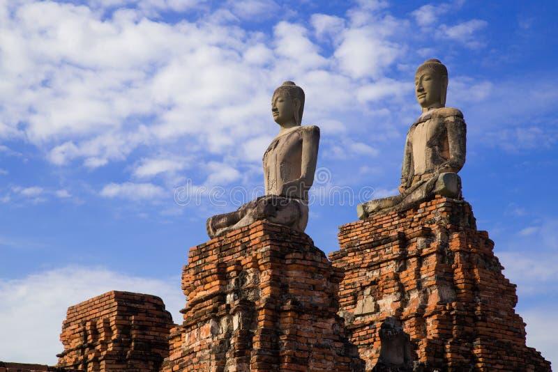 Templo de Chaiwattanaram fotografia de stock