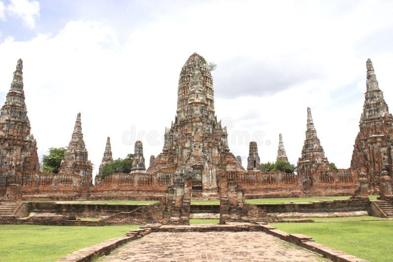 Templo de Chaiwatthan em Ayutthaya fotografia de stock