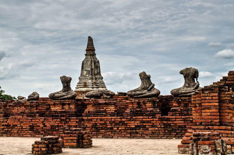 Templo de Chaiwatthanaram en Ayutthaya, Tailandia fotos de archivo libres de regalías