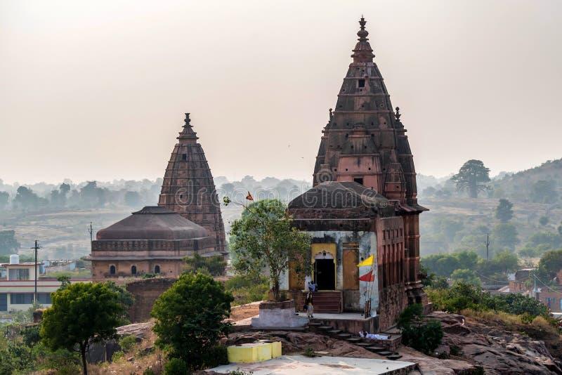 Templo de Chaturbhuj em Orchha, Índia imagens de stock royalty free