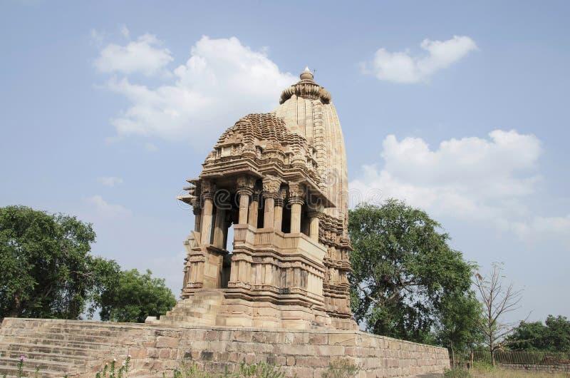 TEMPLO de CHATURBHUJ, fachada - vista geral, grupo do sul, Khajuraho, Madhya Pradesh, local do patrimônio mundial do UNESCO imagem de stock royalty free
