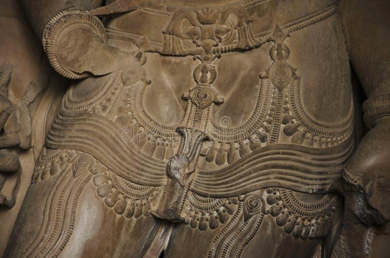 TEMPLO de CHATURBHUJ, santuário - Lord Vishnu, grupo do sul, Khajuraho, Madhya Pradesh, local do patrimônio mundial do UNESCO imagens de stock royalty free