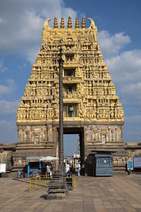 Templo de Chennakeshava, Kesava o templo de Vijayanarayana Belur, distrito Karnataka, la India de Hassan fotografía de archivo libre de regalías