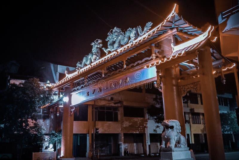Templo de China en Surabaya fotografía de archivo