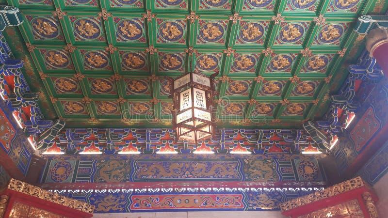 Templo de China en Tailandia foto de archivo libre de regalías
