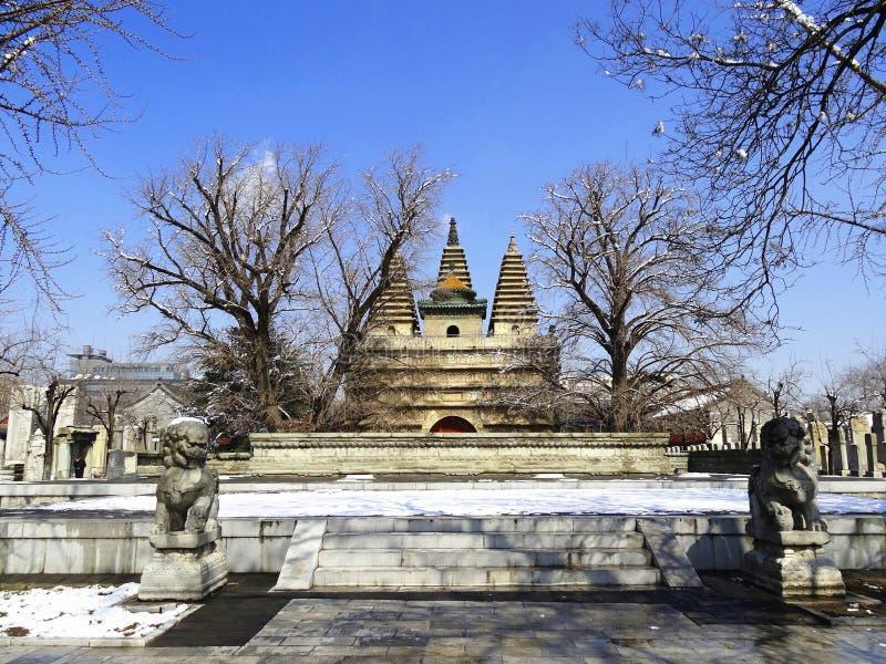 Templo de cinco pagodas en Pekín foto de archivo