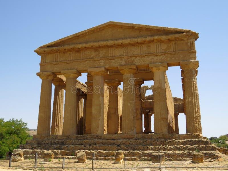 Templo de Concordia imagen de archivo