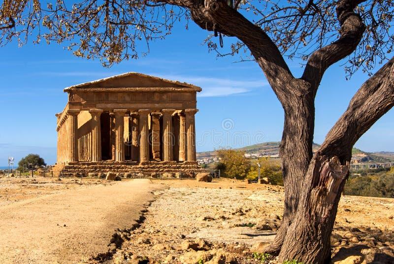Templo de Concordia fotografía de archivo
