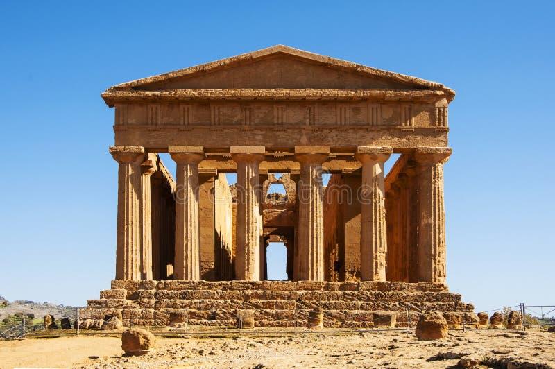 Templo de Concordia imagen de archivo libre de regalías