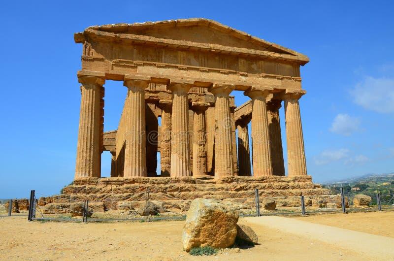 Templo de Concordia, Agrigento fotos de archivo libres de regalías