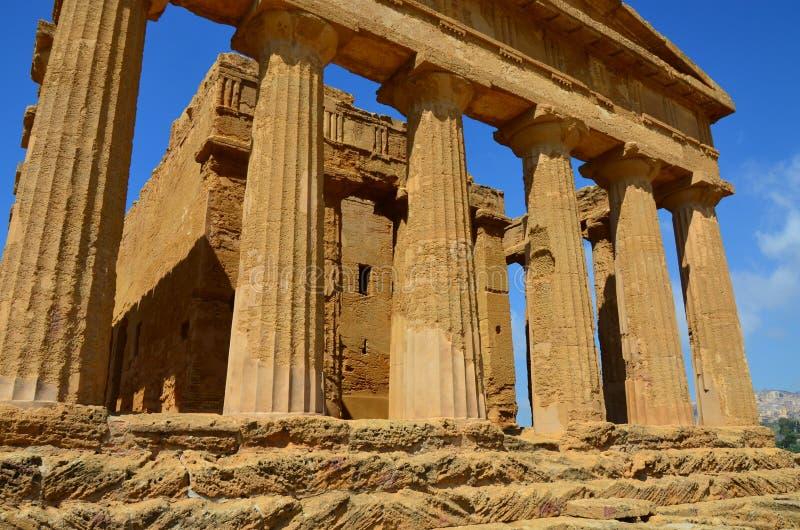 Templo de Concordia, Agrigento imagen de archivo