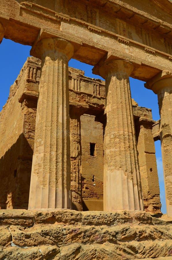 Templo de Concordia, Agrigento imágenes de archivo libres de regalías