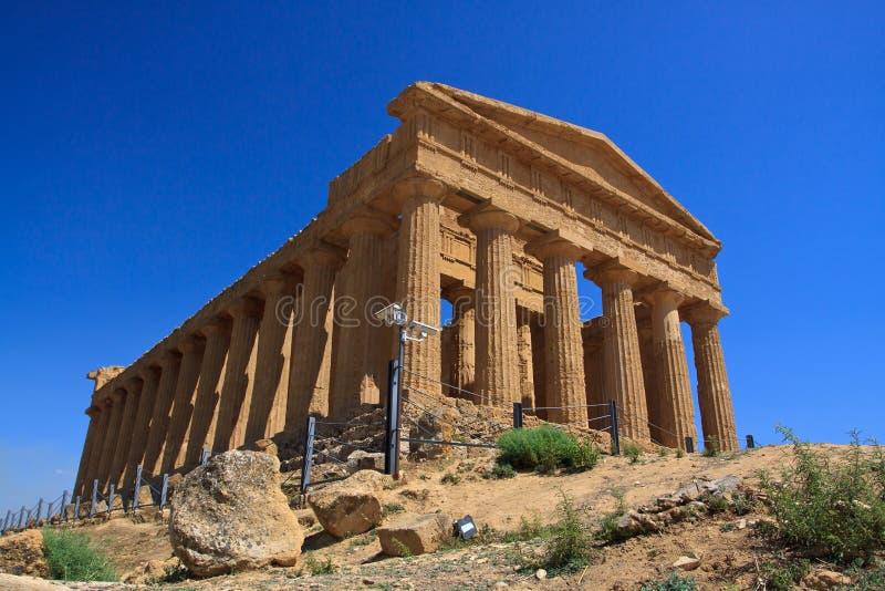 Templo de Concordia - Agrigento fotografía de archivo libre de regalías