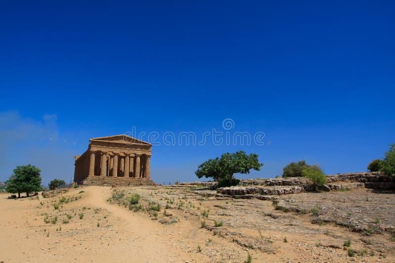 Templo de Concordia - Agrigento foto de archivo libre de regalías