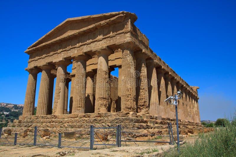 Templo de Concordia - Agrigento imagen de archivo libre de regalías