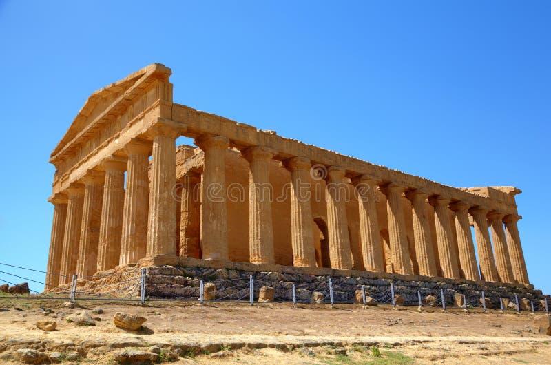 Templo de Concordia en Agrigento. foto de archivo libre de regalías