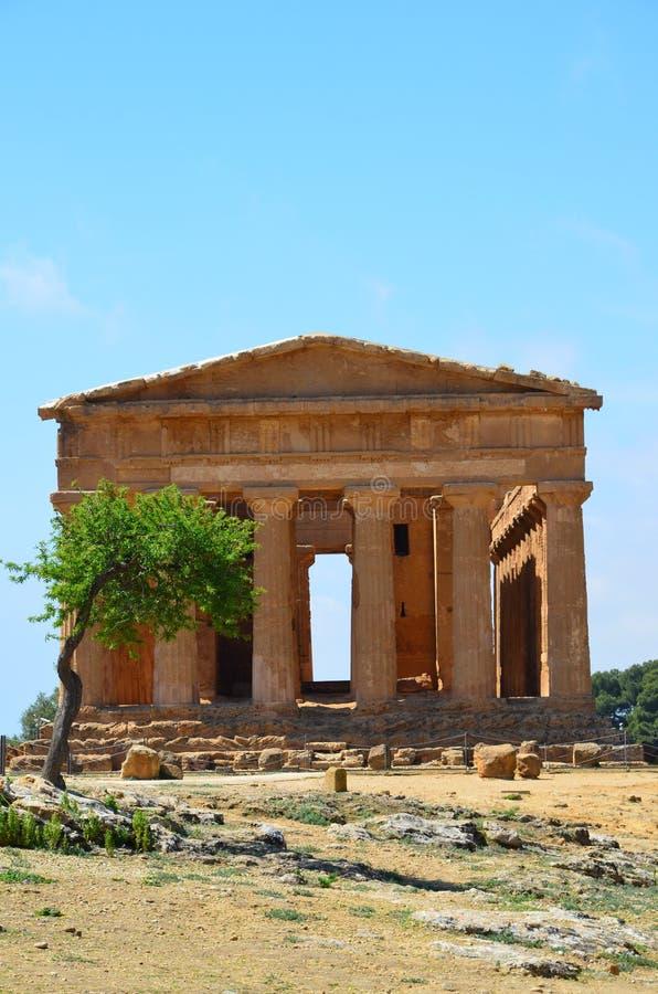 Templo de Concordia en Agrigento, Italia fotos de archivo libres de regalías
