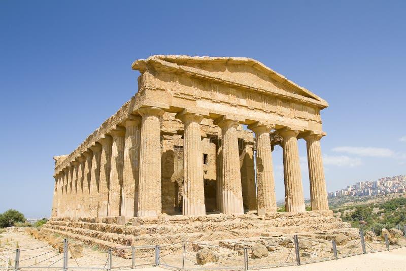 Templo de Concordia, Sicilia foto de archivo