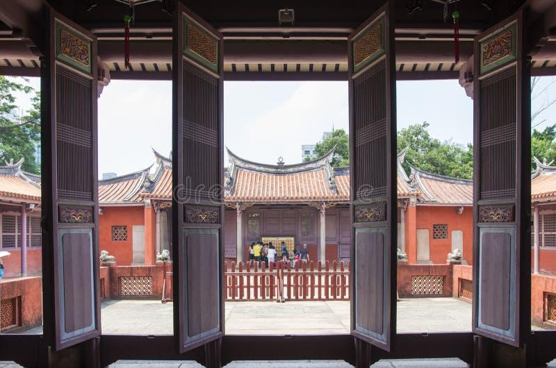 Templo de Confucio de Tainan foto de archivo libre de regalías
