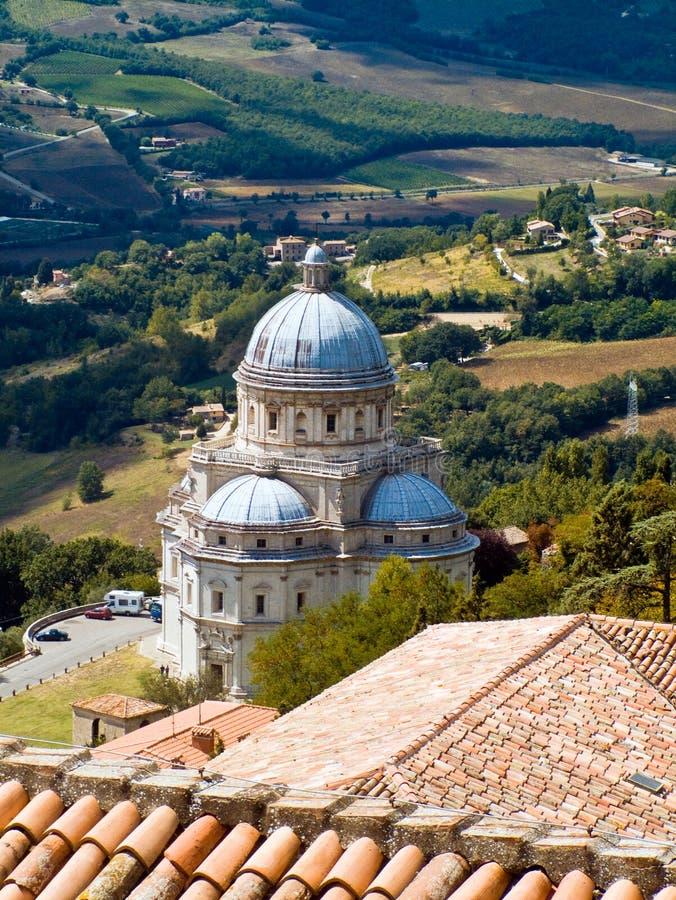 Templo de Consolazione em Todi fotos de stock