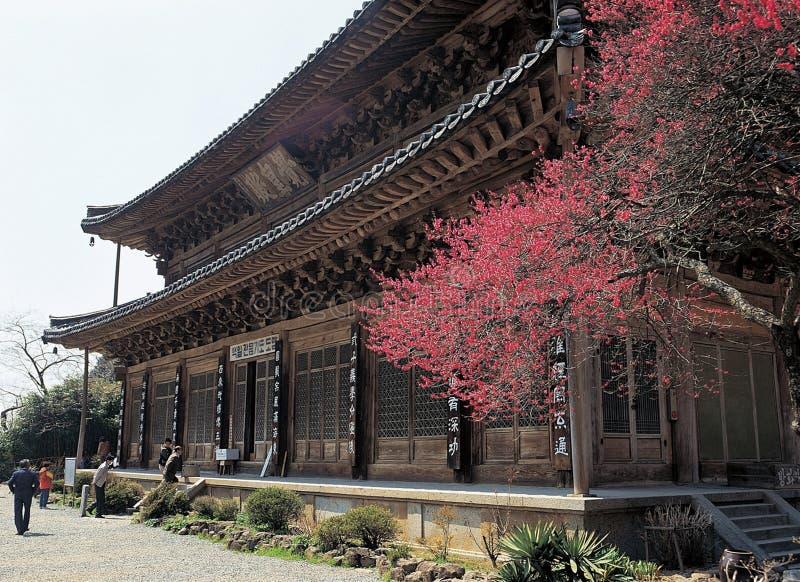 Templo de Coreia imagem de stock
