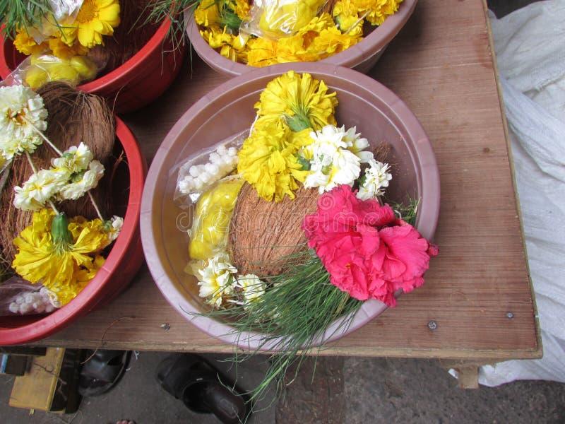 Templo de Dagdusheth Halwai, Pune, Maharashtra imagens de stock