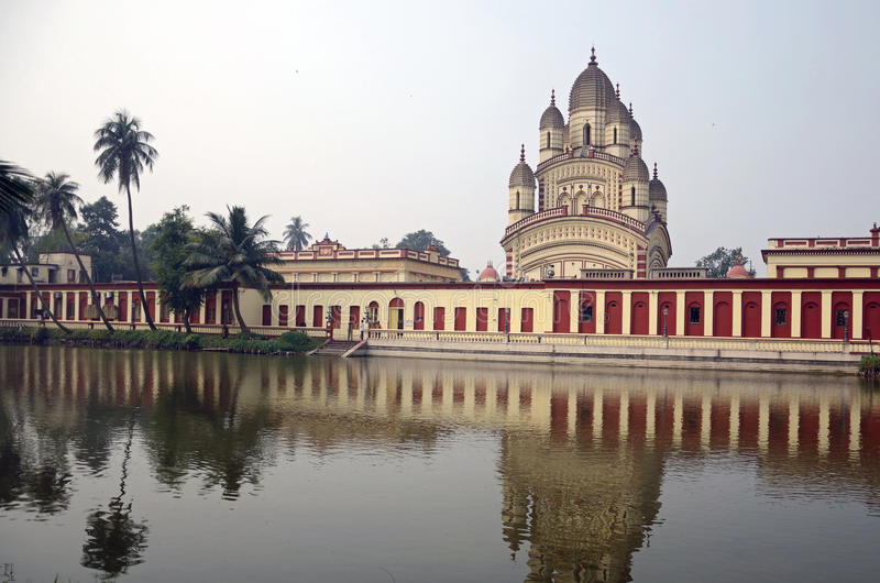 Templo de Dakshineshwar Kali imagens de stock royalty free