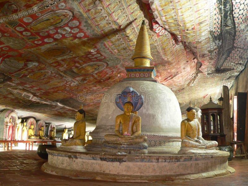 Templo de Dambulla imagens de stock royalty free