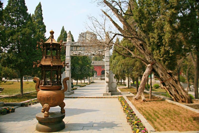 Templo de Danxia en Nanyang fotografía de archivo