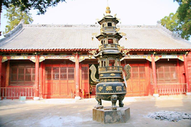 Templo de Danxia en Nanyang imagenes de archivo