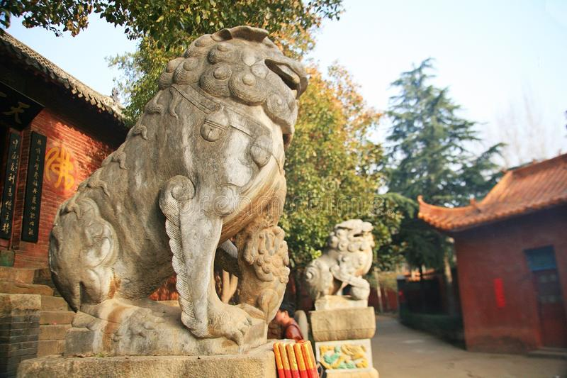 Templo de Danxia en Nanyang fotografía de archivo libre de regalías