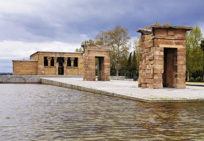 templo de Debod,马德里,西班牙 图库摄影