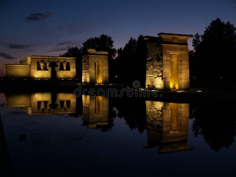Templo de Debod em Spain foto de stock