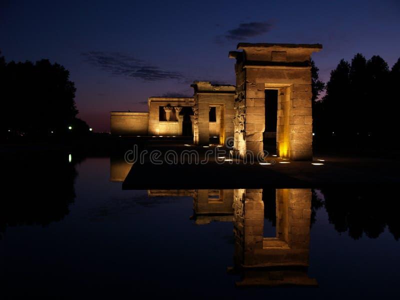 Templo de Debod em Spain foto de stock royalty free