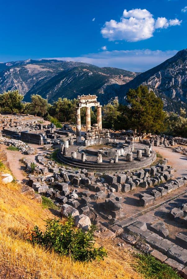 Templo de Delphi, Grécia fotografia de stock royalty free