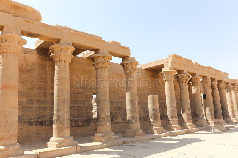 Templo de dios de Horus imagenes de archivo
