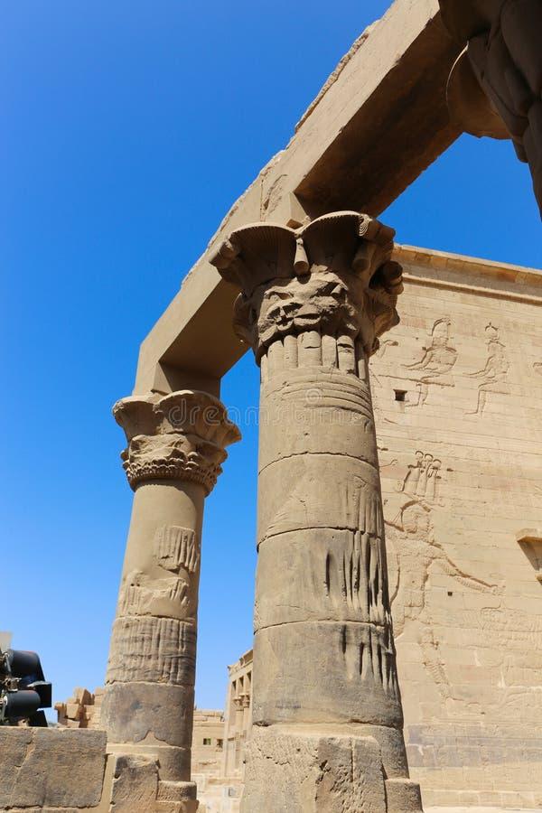 Templo de dios de Horus imagen de archivo libre de regalías